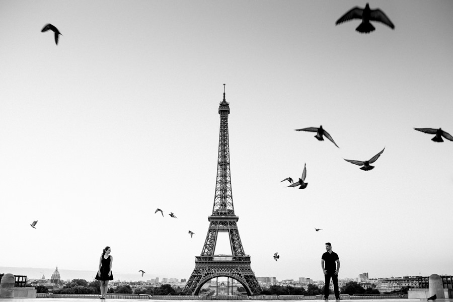 Eiffel Tower Paris Engagement and Wedding Photographer