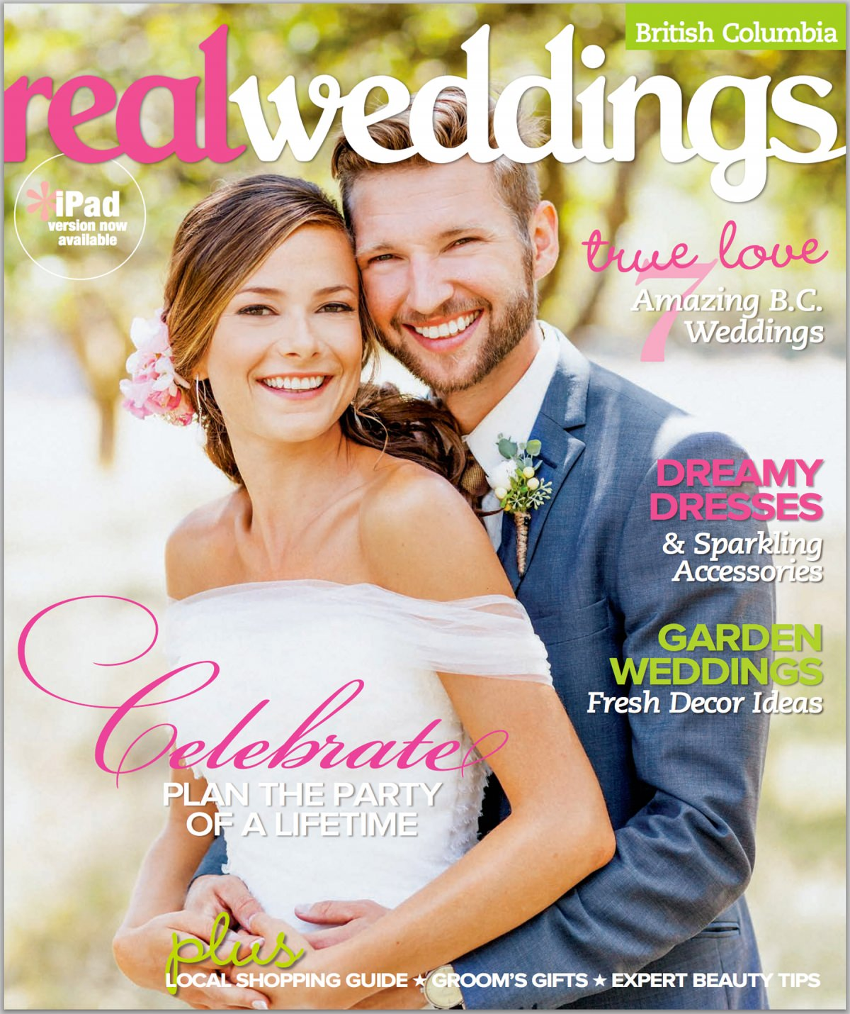 The Real Brides Magazine: Real Wedding Magazine // Front Cover // Vancouver Wedding